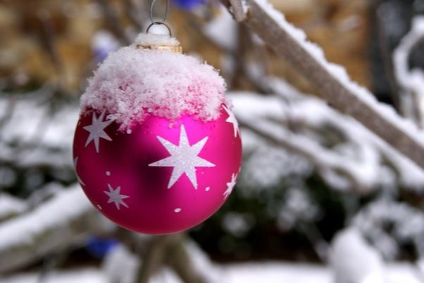 Christmas Colour Themes Deep Pink