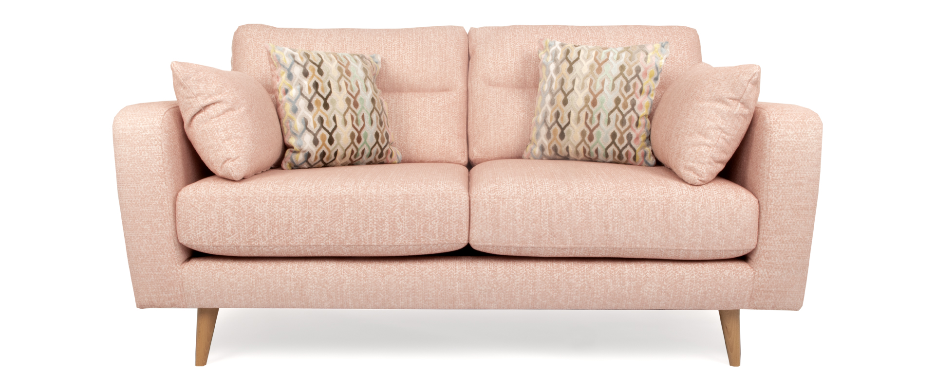 Astounding Brighton 2 Seater Fabric Sofa In Blush Pink Ncnpc Chair Design For Home Ncnpcorg