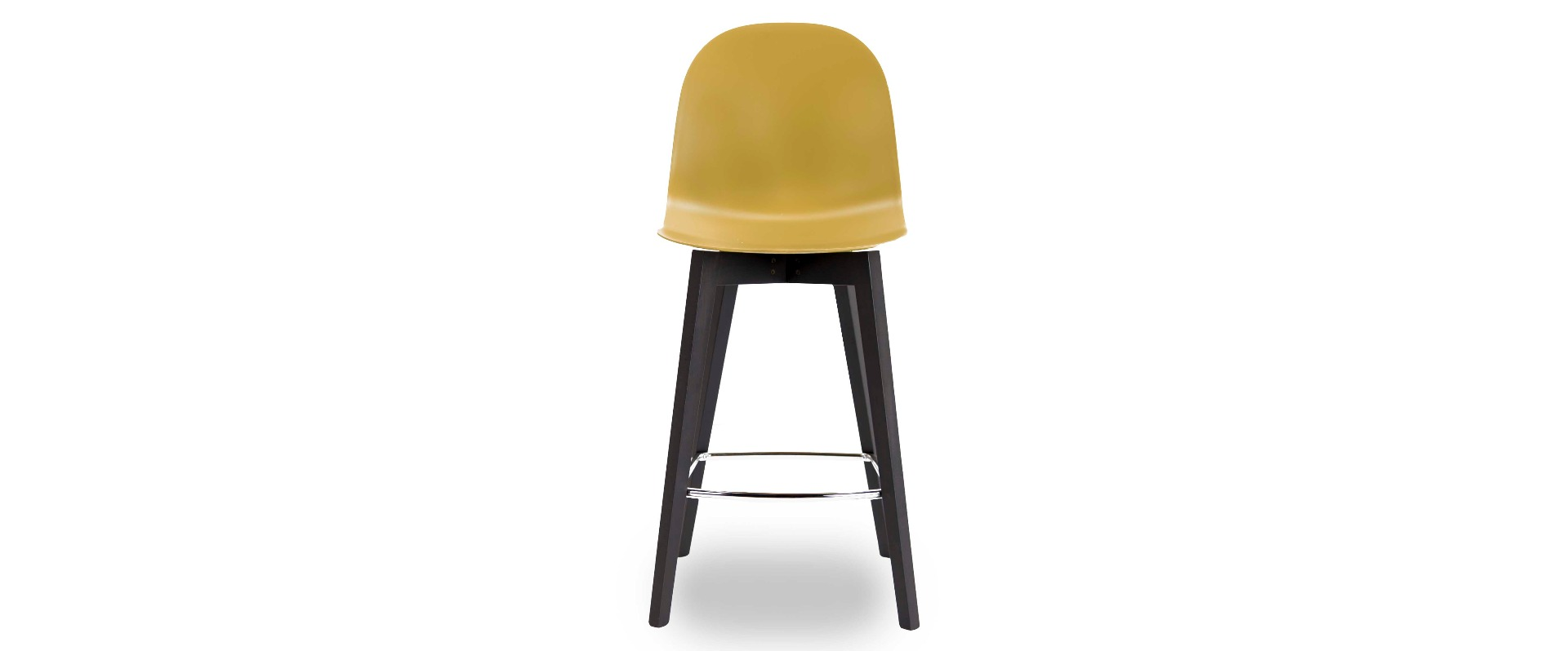 Academy Mustard Bar Stool With Graphite Frame