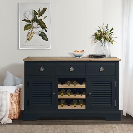 Loire Charcoal Large Sideboard