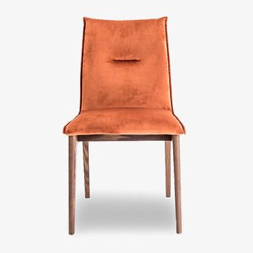 Maya Brick Red Velvet Dining Chair