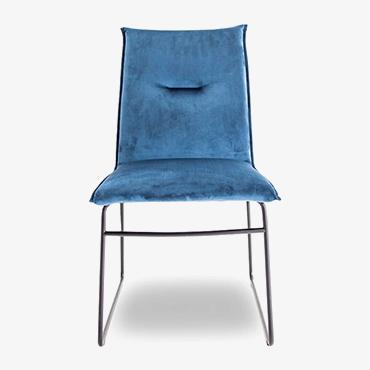 Maya Sky Blue Velvet Dining Chair