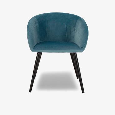 Primrose Velvet Chair - Turquoise