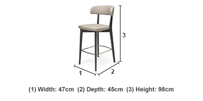 Siren Graphite and Taupe Barstool