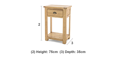 223c8835f3401 Canterbury 1 Drawer Console Table