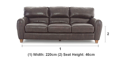 Hobart 3 Seater Sofa