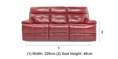 Peachy Ruben 3 Seater Recliner Sofa Andrewgaddart Wooden Chair Designs For Living Room Andrewgaddartcom