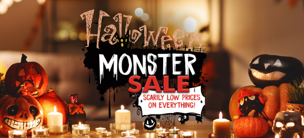 Halloween Monster Sale- Low prices on Everything