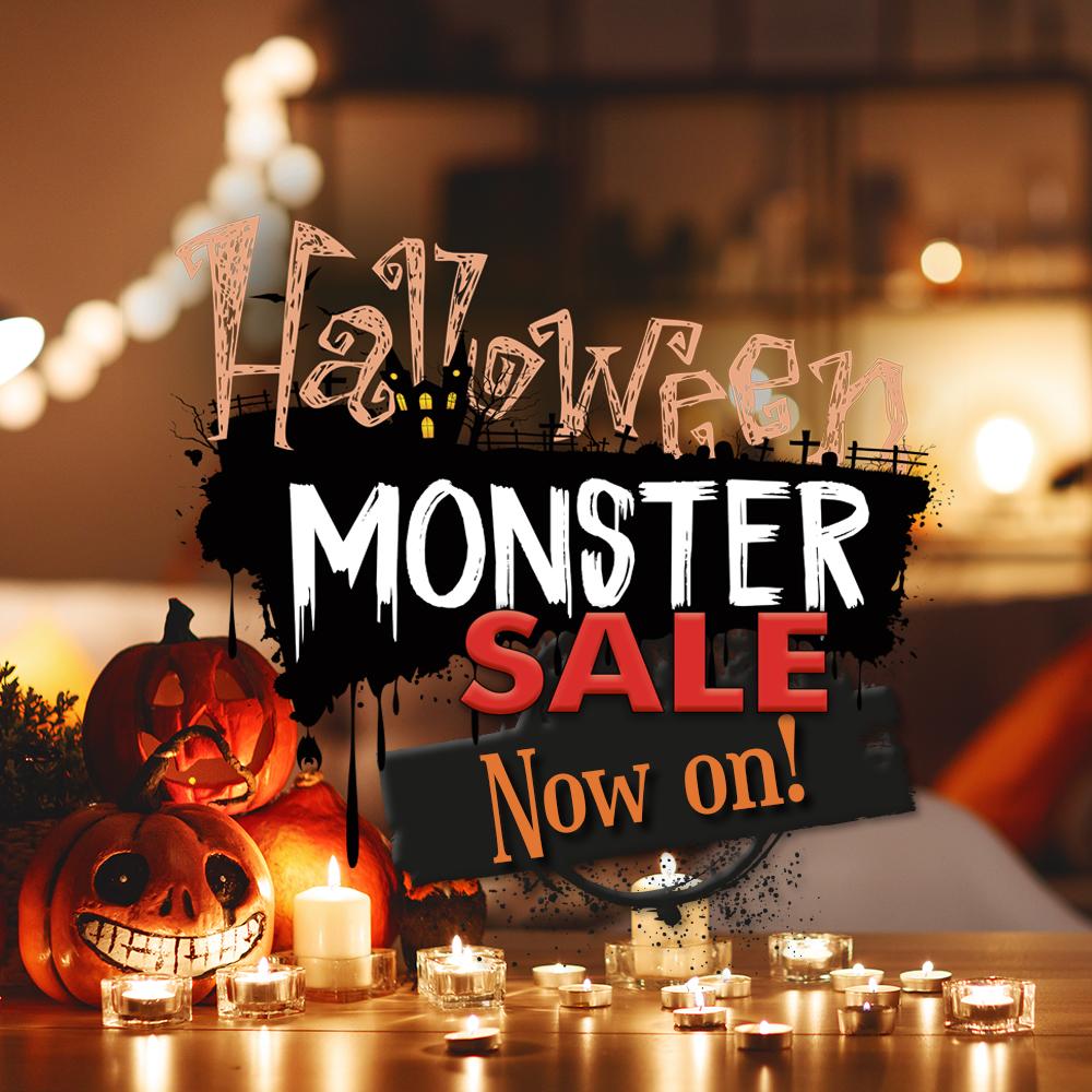 Happy Halloween-Monster Sale Now On