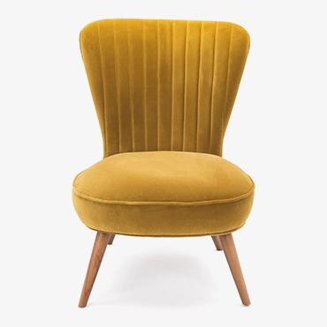 Madeleine Chair in Cotton Gold