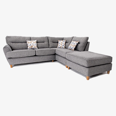 Juno Corner Sofa with Right Hand Chaise & Footstool