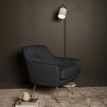 Zelda Blue Accent Chair