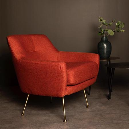 Zelda Burnt Orange Accent Chair